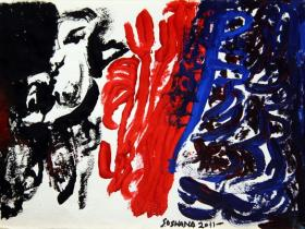 Without Title (2011) | Oil/Acryl on Paper  | 38cm x 28cm