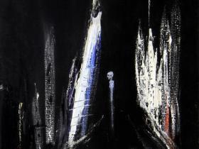 Alone in the Dark (1990) | Acryl on Canvas | 45 x 38 cm