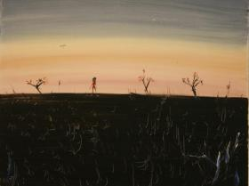 Alone in the Field (1994) | Oil on Canvas | 60 x 75 cm