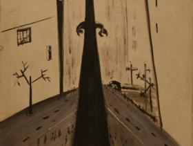 Cityscape (1953) | Oil on Canvas | 65 x 46 cm