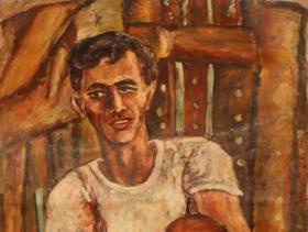Frank Sinatras Cousin in Peekskil (1945) | Oil on Canvas | 89 x 73 cm