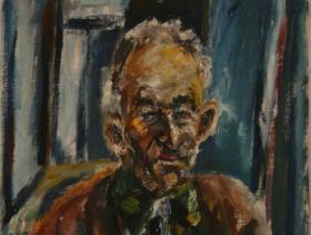 An old Farmer (1945) | Oil on Canvas | 50 x 40 cm