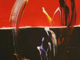 Red & Black Life (2007) | Acryl on Canvas | 60 x 40 cm