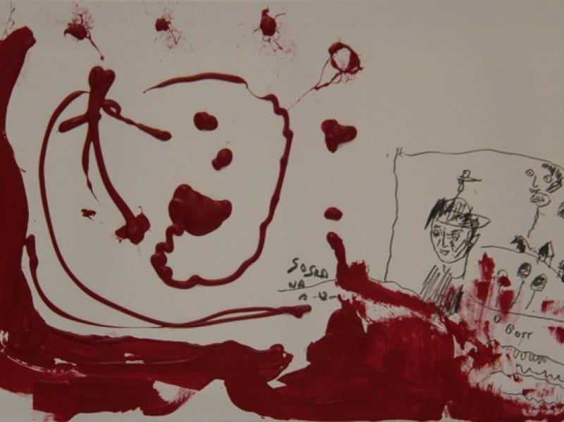 Oh Gott II. (2012) | Acryl on Canvas | 40cm x 60cm