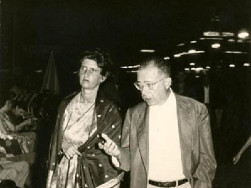 Soshana with Jean Paul Sartre | Paris 1958