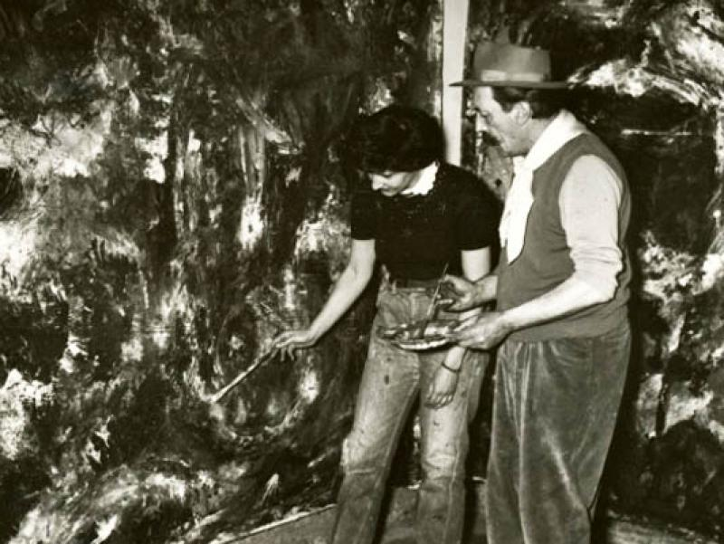 Soshana & Pinot Gallizio at work | Alba de Piemonte 1960