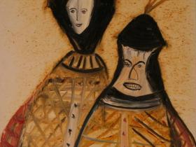 Man and Wife (1997) | Acryl on Canvas | 70 x 50 cm