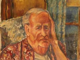 Dr. Seymor Steadman - Progressive Lawyer (1944) | Oil on Canvas | 73 x 51 cm