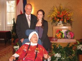 Soshana with family: son Amos and granddaughter Alina