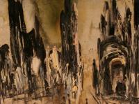 War in Bosnia I. (1993) | Oil on Canvas | 100 x 65 cm