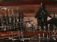 Death Camp (1989) | Oil on Paper | 28 x 38 cm