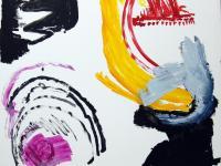 Without Title (2011) | Aquarelle/Guache on Cardboard | 108cm x 105cm