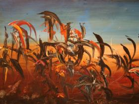 Desertblossoms in Mexico (1966)   Oil on Canvas   120 x 179 cm