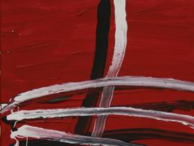 Across on Red (2008) | Acryl on Canvas | 60 x 40 cm