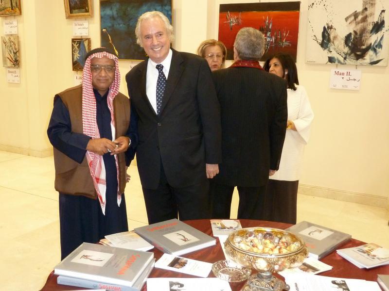 Ambassador Faisal Rashed Al-Ghais and Amos Schueller