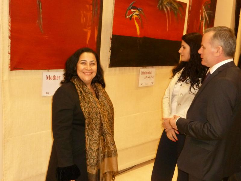 Regina Frank, Mr. and Mrs. Ambassador Morina (Albania)