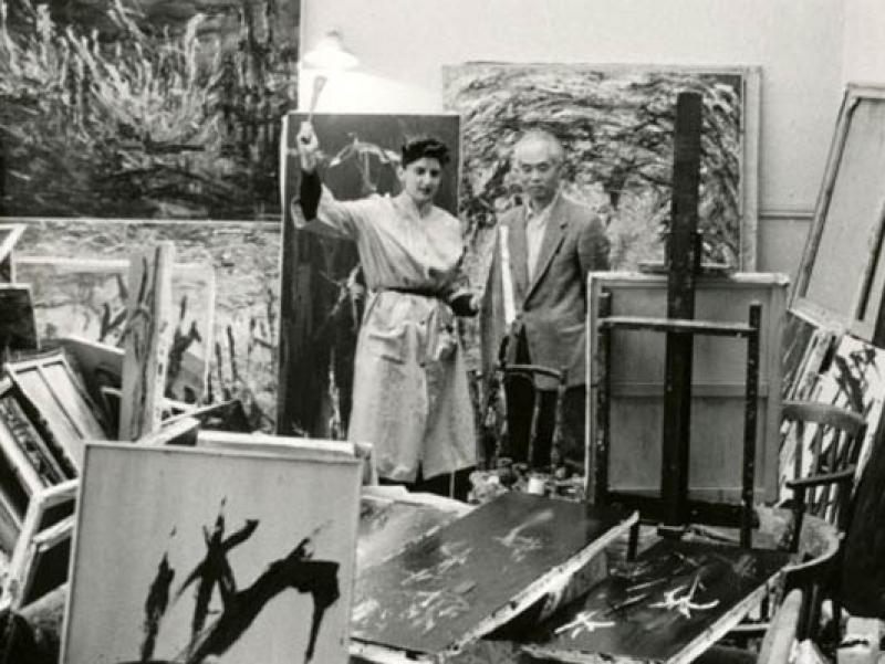 Soshana with Japanese artist friend Tobashi   Paris 1956