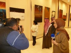 Suad Abdullah Al-Ateeqi, Abdul-Aziz Soud Al-Babtain and Journalists