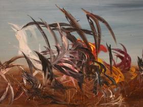 Brazil I. (1961) | Oil on Canvas | 98 x 196 cm