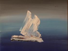 Iceberg (1975) | Acryl on Canvas | 61 x 46 cm
